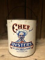 Chef Brand Oyster Tin Can Baltimore Maryland