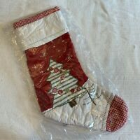 Pottery Barn Kids Quilted Christmas Tree Stocking BRAND NEW Unopened