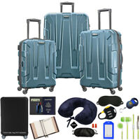 Samsonite Centric 3pc Hardside Luggage Set Teal w Ultimate 10pc Accessory Kit