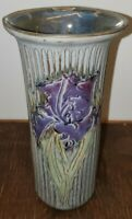 LARGE VINTAGE EMILY PEARLMAN POTTERY SIGNED IRIS VASE