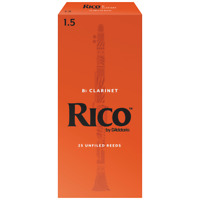 Rico by D'Addario Bb Clarinet Reeds, 25-pack, RCA25