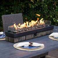 🔥North Woods Decorative Luxury Table Top Fire Gas Fire Bowl Rectangular