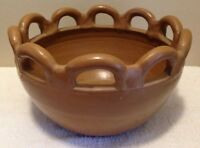 Vintage Handmade In Brazil Large Pottery Bowl