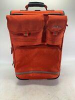 90#x27;s Polo Sport Ralph Lauren Rolling Carryon Luggage Red Vintage Suitcase 22quot;