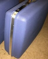 "Samsonite Luggage Montbello II Set Of 2 20"" Suitcases Blue Vintage Clean"