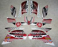 Yamaha 660R Raptor Red White Decals Stickers Quad Graphics 13pc kit 2001 2005