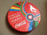 2xLIMITED EDITION Coca Cola London 2012 Olympic Torch Relay Tamborine Beat Drum
