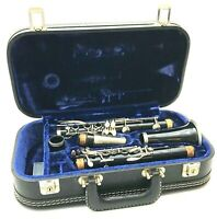 EVETTE Black Clarinet West Germany #72622 Velvet Lined Hard Black Case