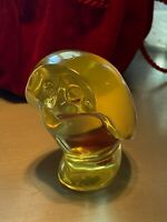Baccarat Crystal YELLOW BABY OWL, double signed, Retired, Made in France