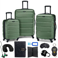 Samsonite Omni Hardside Nested Luggage SetArmy Green w 10pc Accessory Kit