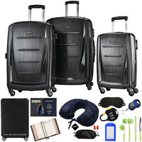 Samsonite Winfield 2 Hardside 3pc Spinner Set Brushed Anthracite +Accessory Kit