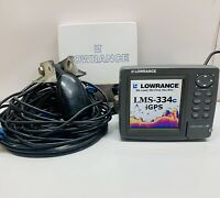 Lowrance LMS-334C iGPS GPS - Power Cables And Transducer