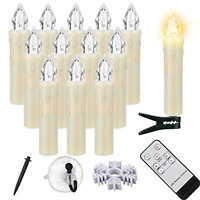 Led Flameless Taper Candles with Remote, 12 PCS Flickering Window Candles with x