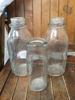 Lot 3 Vintage Dairy Milk Bottle Sealco 1 2 Pint And Pint