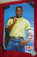 Vintage Bo Jackson Pepsi Poster Early 90#x27;s 24x36 Never Displayed RARE