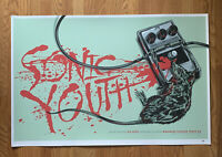 2010 SONIC YOUTH KEN TAYLOR SCREENPRINT ART PRINT POSTER SIGNED NUMBERED TEMPE