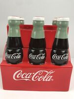 CLASSIC RETRO COCA COLA 6 PACK CERAMIC COOKIE JAR BY GIBSON 2004 NEW