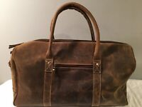 KomalC Leather Travel Duffel Bags for Men and Women Full Grain Leather Pre owned