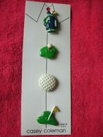 Vintage Casey Coleman Set of 4 Golf Button Covers