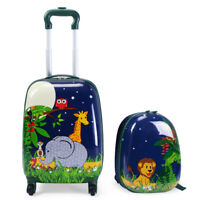 Honeyjoy 2Pc 12quot; 16quot; Kids Luggage Set Suitcase Backpack School Travel Case ABS