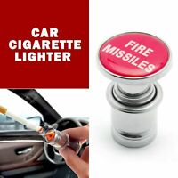 Universal Fire Missile Eject Button Car Cigarette Lighter Cover 12V Accessories. $6.80
