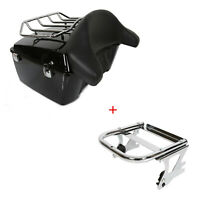 Painted King Tour Pack Pak Trunk W Two up Mount Rack For Harley 97 08 Touring