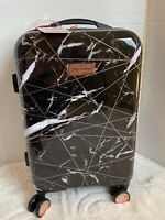"""JUICY COUTURE 21"""" Hardside Wheeled Spinner Black Marble Suitcase NWT $240"""