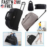 24quot; Rolling Wheeled Duffle Bag Waterproof Lightweight Suitcase Luggage Travel US