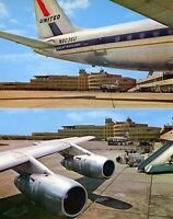 UNITED AIRLINES DC 8 PITTSBURGH OLD AIRPORT TERMINAL AIRPLANE AIRCRAFT