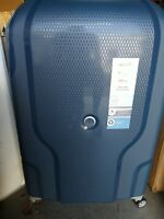 delsey hardside 30quot; spinner luggage quot;CLAVELquot; BLUE JEAN COLOR TSA LOCK