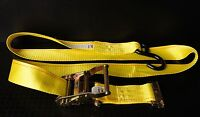 12 6#x27; Motorcycle Tie Down Straps E Track Ratchet Strap f ATV Quad Trailer Van