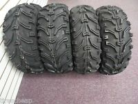 2000-2009 HONDA RANCHER 350 4WD BEAR CLAW 6 PLY ATV TIRES SET 4  24X8-12 24X9-11