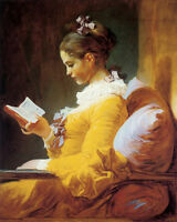 Young Girl Reading Book Paiting by Fragonard 16quot;X20quot; Vintage Poster FREE S H $17.72