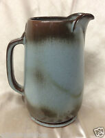 FRANKOMA POTTERY WESTWIND WOODLAND MOSS #81 PITCHER 38 OZ MOTTLED BROWN ON BLUE