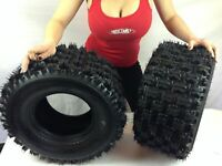 YAMAHA YFZ 350 BANSHEE QUADBOSS SPORT ATV TIRES 20X10-9 REAR (2 TIRE SET) 4 ply