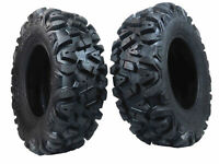 2 New Front 25x8-12 KT MASSFX TIRE SET ATV TIRES 6 PLY 25