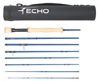 ECHO TRIP TROUT 590-8 9' FT #5 WT 8 PIECE TRAVEL FLY ROD + TUBE, FREE U.S. SHIP