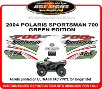 2004 POLARIS  Sportsman 700 twin 4X4 Decal kit  atv green  reproductions