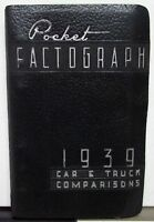 1939 Ford Mercury Lincoln Zephyr Car Ford Truck Factograph Comparison Data Book