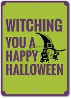 Witch Sign, Happy Halloween Sign, Halloween Decor, Witch Decor ENSA1002976