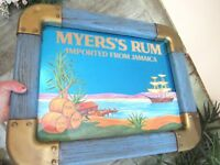MYERS'S RUM Imported From Jamaica TROPICAL Blue Mirror Bar Sign Mancave NICE!!!!