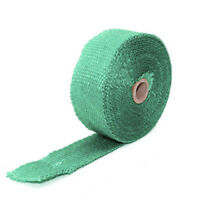 Green 10M Exhaust Pipe Heat Shield Wrap Tape Cloth Roll Kit Motorcycle Car ATV