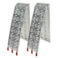 New 7.5 ft Aluminum ATV Truck Loading Ramps, Arched Bi-Fold Ramps Pair