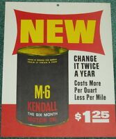 KENDALL MOTOR OIL CAN SIGN M 6 KENDALL OIL SIGN 1963