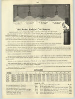 1916 PAPER AD 4 P Acme Airlight Gas House Light System Nulite Storm King Lantern