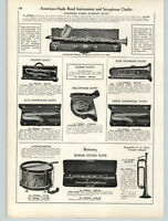 1939 PAPER AD Chandler Model Clarinet Outfit Sax Saxophone Bettoney Flute Bugle