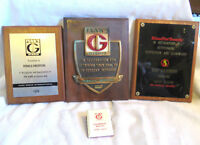 FUNKS G HYBRID Feed Seed Advertising Embossed Engraved AWARD PLAQUES 3 + Clip