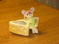 SHAWNEE Art Pottery  ~MOUSE with CHEESE~ Planter ~ VINTAGE ~ FREE SHIPPING !