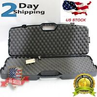 Tactical AR Gun Hard Case Flambeau Scoped Rifle Safety Storage Hunting Bag Black