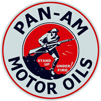 Extra Large Pan-Am Motor Oil Service Station Gas Sign